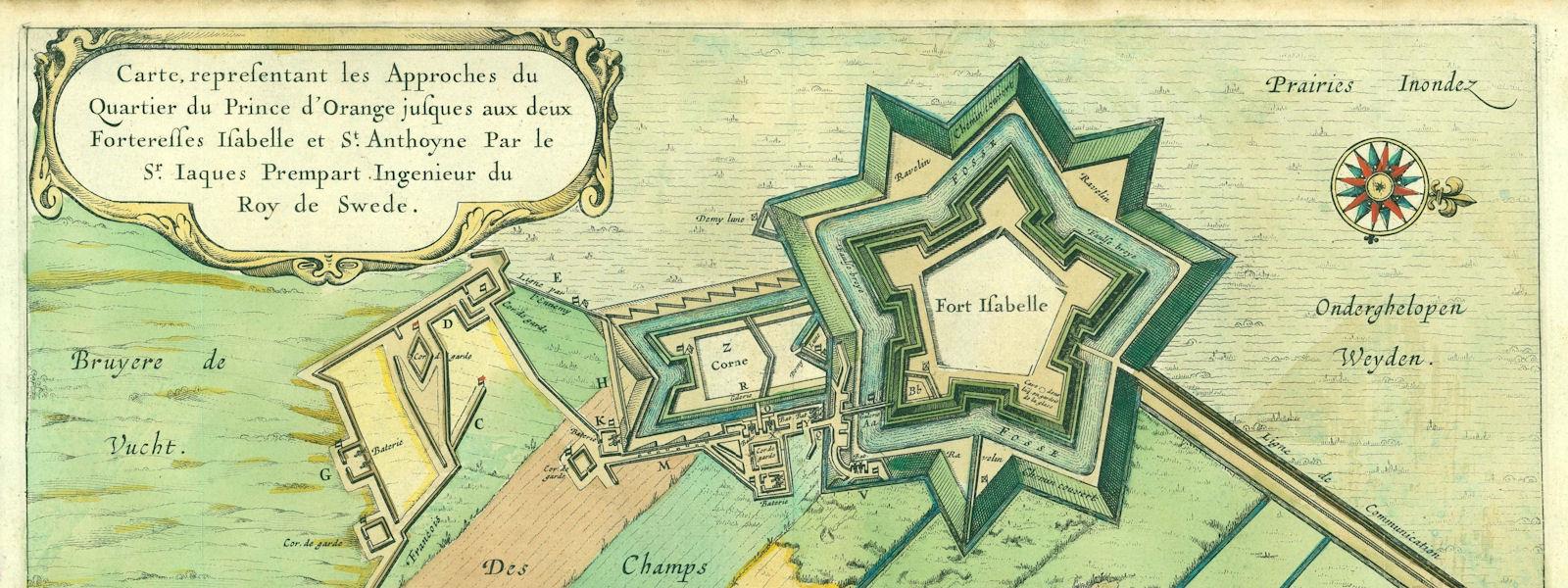 Fort Isabella kaart